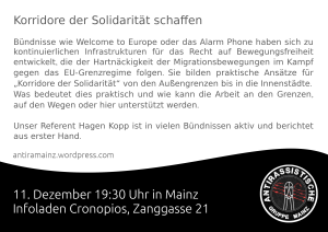 Flyer Veranstaltung Hagen